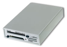 USB2.0 Drive supports PCMCIA, CF and SD Memory Cards