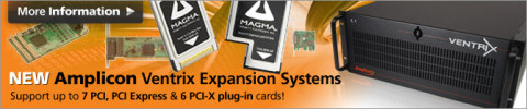 Expansion solutions for PCI and PCIe from Magma and Amplicon