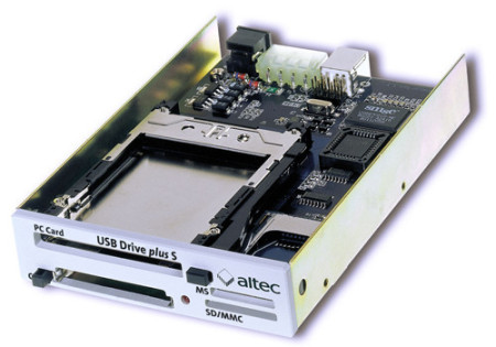 Internal USB-Drive supports PCMCIA, CF and SD Memory Cards